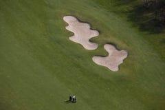 空中高尔夫球 免版税库存图片