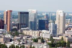 空中鹿特丹 免版税库存照片