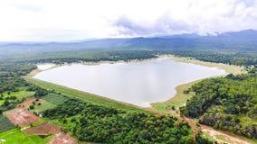 空中水坝在泰国 免版税库存图片