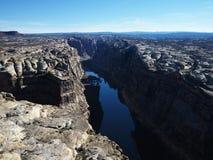空中canyonlands犹他 库存图片
