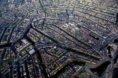 空中centr城市历史msterdam视图 库存照片