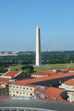 空中dc视图华盛顿 图库摄影