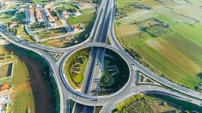 空中GSP环形交通枢纽,尼科西亚,塞浦路斯 库存照片