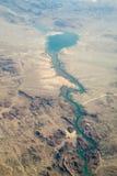 空中havasu湖视图 图库摄影