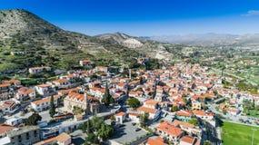 空中Kalavasos,拉纳卡,塞浦路斯 免版税图库摄影