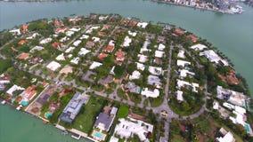 空中La Gorce海岛迈阿密 股票视频