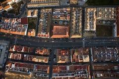 空中lepe城镇视图 库存照片