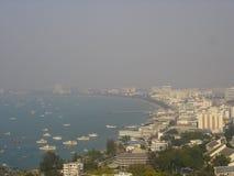 空中pattaya泰国视图 免版税库存图片