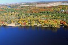 空中riverview公园和机场 免版税库存照片