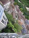 空中rocamadour视图 库存照片