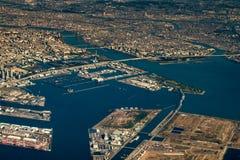空中tokoy都市风景视图 免版税库存照片