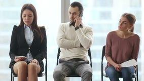 空位的三名候选人在公司中 影视素材