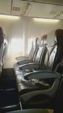 空位的数量在飞机上的 免版税库存照片