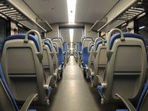 空位看法在火车里面的 免版税库存照片
