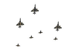 空军以色列游行 免版税库存图片