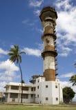 空军基地强制浅滩海岛塔 免版税库存照片