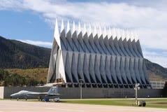 空军学院教堂 免版税图库摄影