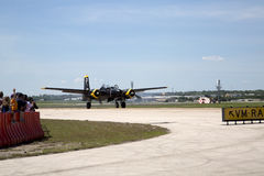 空军实力商展在城市沃思堡 免版税库存照片