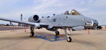 空军队A-10 Warthog/雷电II喷气式歼击机 库存图片
