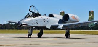 空军队A-10 Warthog/雷电II 库存照片