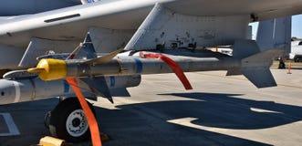 空军队AIM-9响尾蛇导弹 免版税库存图片