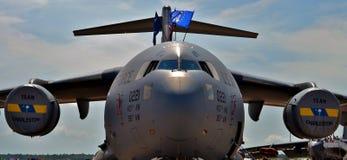 空军队C-17 Globemaster III货机 库存图片