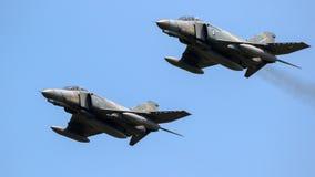 空军队F4幽灵喷气式歼击机航空器 免版税图库摄影