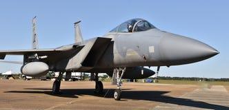 空军队F-15老鹰喷气式歼击机 免版税库存照片