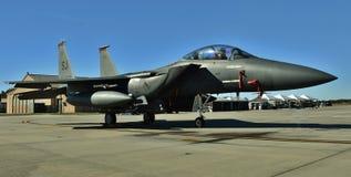 空军队F-15E罢工老鹰 免版税库存图片