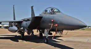 空军队F-15E罢工老鹰 免版税库存照片
