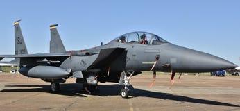 空军队F-15E罢工老鹰 库存图片