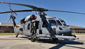 空军队HH-60G铺鹰直升机 免版税库存图片