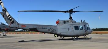 空军队UH-1N Huey直升机 免版税图库摄影