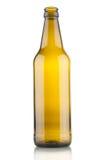 空啤酒瓶的特写镜头 库存照片
