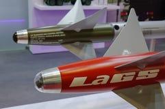 空对空导弹显示在新加坡 免版税库存照片