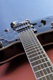 空心机体吉他 免版税库存图片