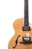 空心机体电吉他 免版税库存图片