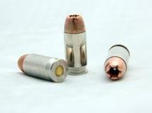 空心点cal .45 ACP子弹 免版税库存照片
