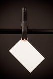 空插件夹子停止的白色 免版税库存照片