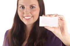 空插件微笑的白人妇女年轻人 库存图片