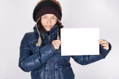 空插件藏品妇女年轻人 免版税库存照片