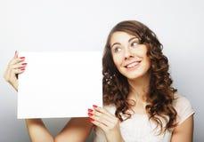 空插件藏品妇女 免版税图库摄影