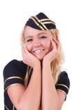 年轻空服员 库存照片