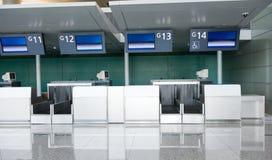 空机场的检查 免版税库存照片