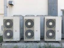 空气凝聚的单位侧面墙 免版税库存图片