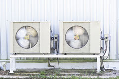 空气压缩机。 免版税库存照片