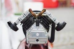 空气压缩机马达细节 免版税库存照片