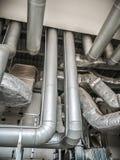 空气情况管子通道  库存图片