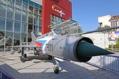 空气战斗机米格-21 免版税库存图片