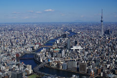 从空气的东京 图库摄影